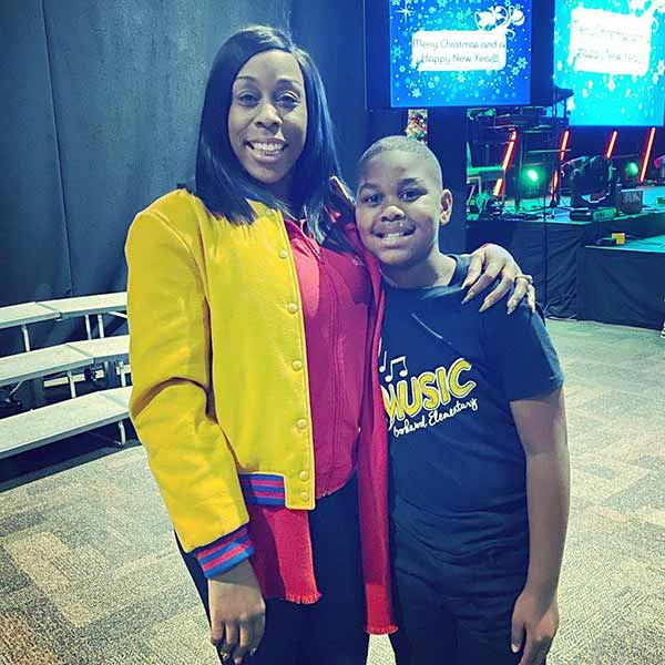 Image of Caption: Dianna Williams with her son Cobe Williams