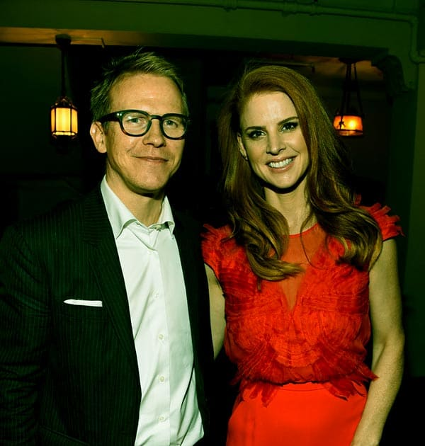 Image of Caption: Santtu Seppälä with his wife Sarah Rafferty