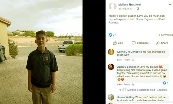 Image of Brett Raymer son Bryce from previous wife Mellisa Bradford