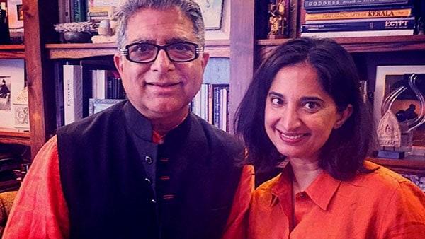Image of Deepak Chopra with his daughter Mallika Chopra