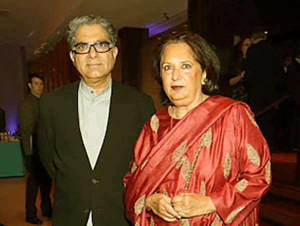 Image of Deepak Chopra with his wife Rita Chopra