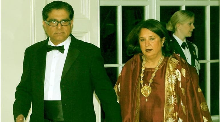 Image of Deepak Chopra Net Worth. Meet his wife Rita Chopra and Kids(Daughter Mallika Chopra and Son )