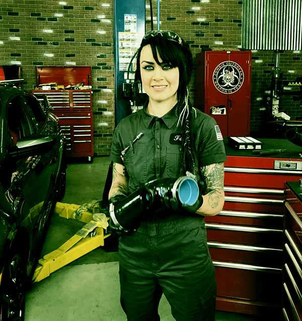 Image of All Girls Garage Cast Faye Hadley.