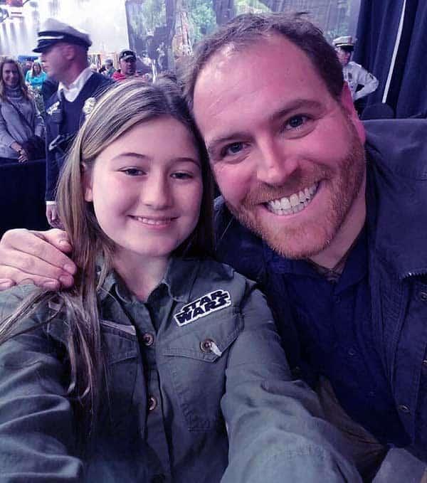 Image of Hallie Gnatovich husband Josh with daughter Isla
