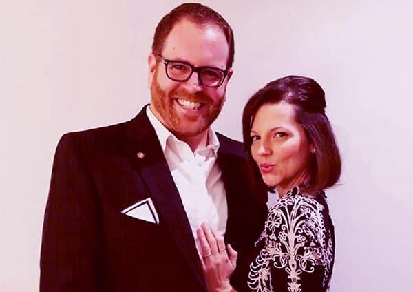Image of Hallie Gnatovich with her husband Josh Gates