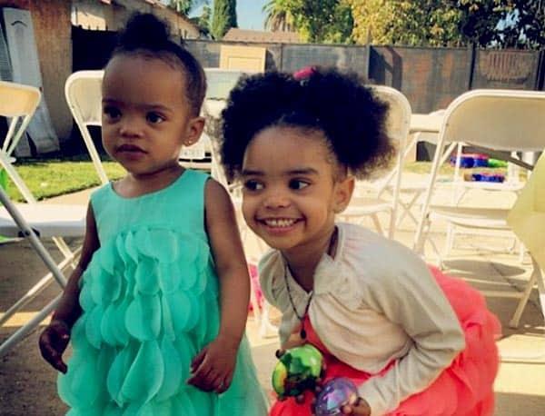 Image of Kyla Pratt daughter Liyah and Lyric Kai Kilpatrick
