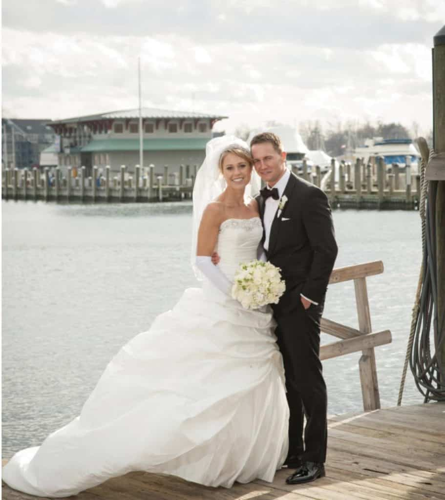 image of Marnie Oursler and husband Dave Canning wedding