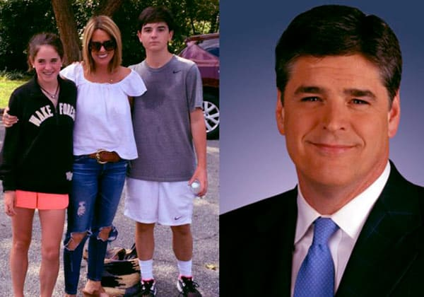 Image of Merri with her mother Jill Rhodes, father Sean Hannity and brother Sean Patrick Hannity