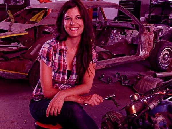 Image of ll Girls Garage Cast Rachel DeBarros.