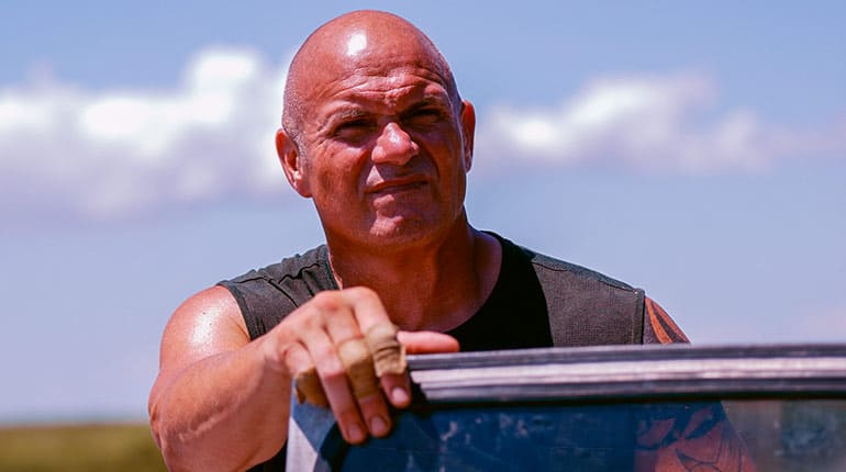 Image of Is Ronnie Adams from Swamp People Married. His wiki bio and facts. Everything on this guy.