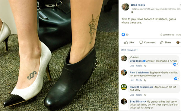 Image of Stephanie Grady tattoo on her foot