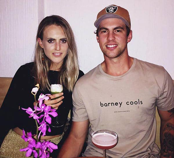Image of Taylor Mahoney with her boyfriend Jack Lathey