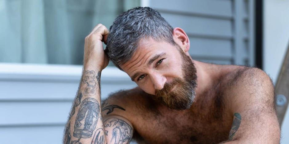 Images of a former model and reality tv star, Kenny Brian