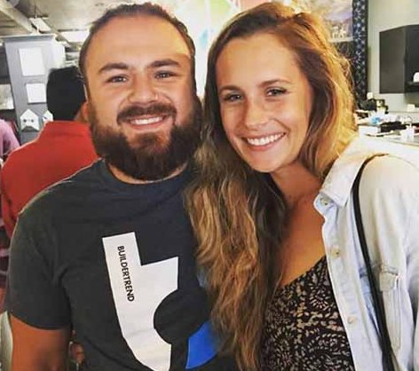Tad Starsiak with his girlfriend, Christina Eslinger