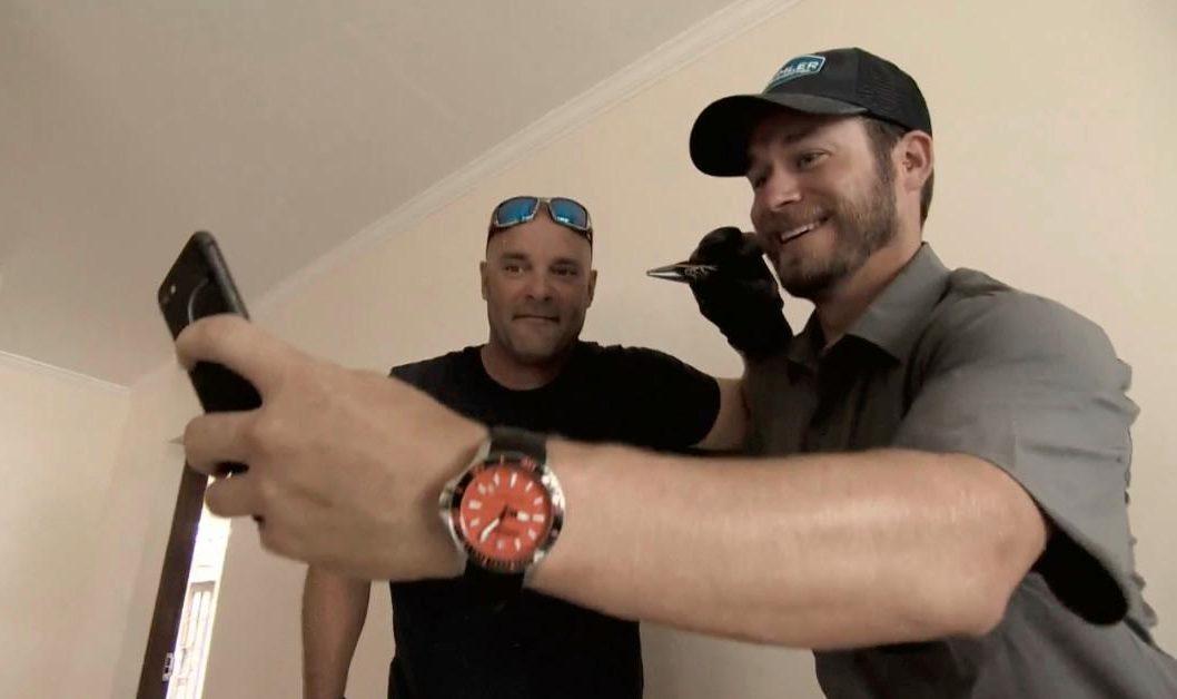 Adam Weir with Bryan Baeumler