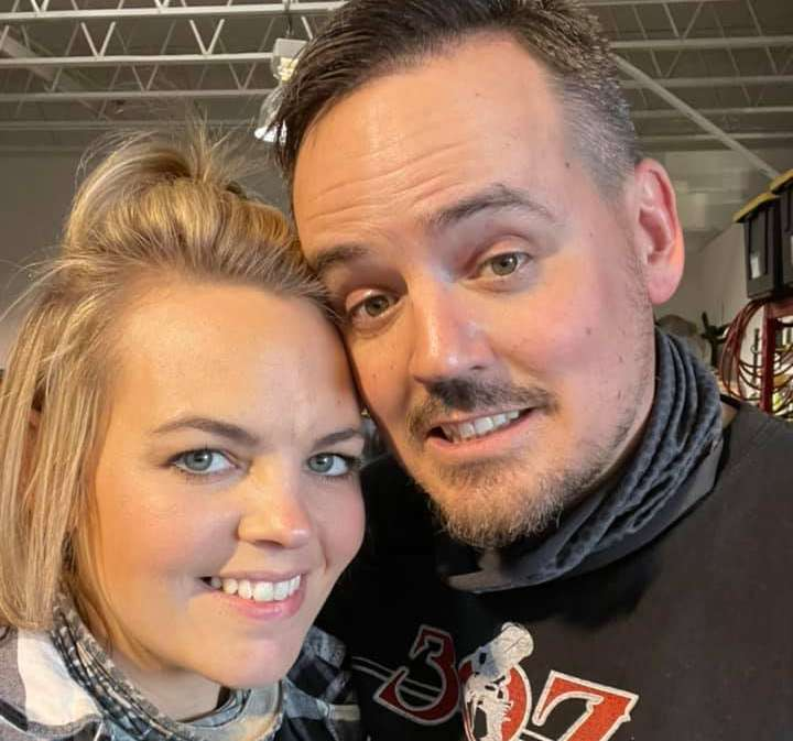 Courtney Anton with her husband, Joey