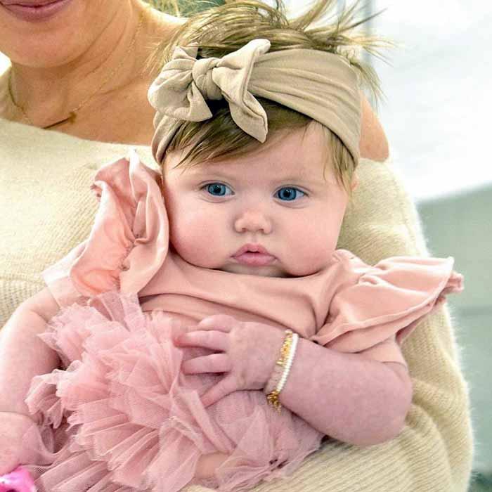 Photo of Mina Starsiak daughter Charlotte Drew Hawk.