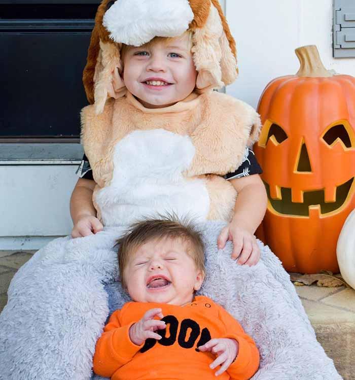Photo of Mina Starsiak daughter Charlotte Drew Hawk and son.