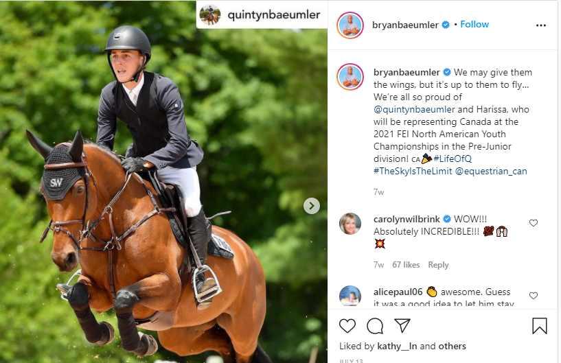 Bryan congratulate his son, Quintyn through instagram post